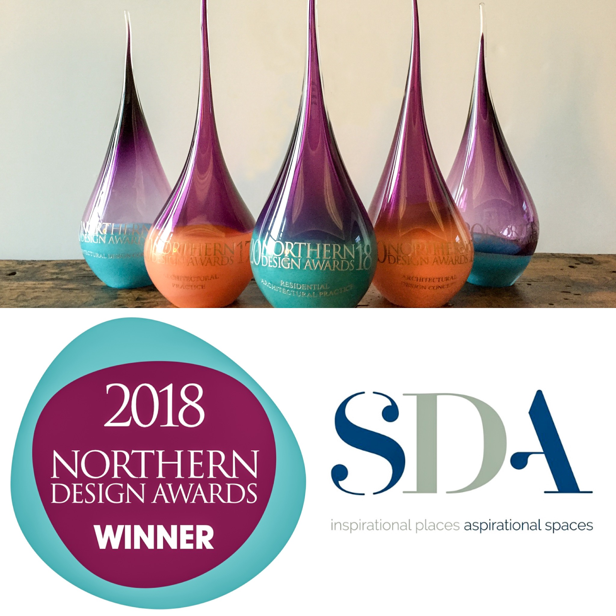 SDA win the 2018 Nothern Design awards.